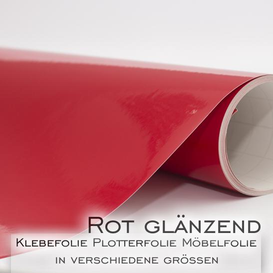 Klebefolie dekofolie m belfolie rot gl nzend in 126cm for Klebefolie abwaschbar