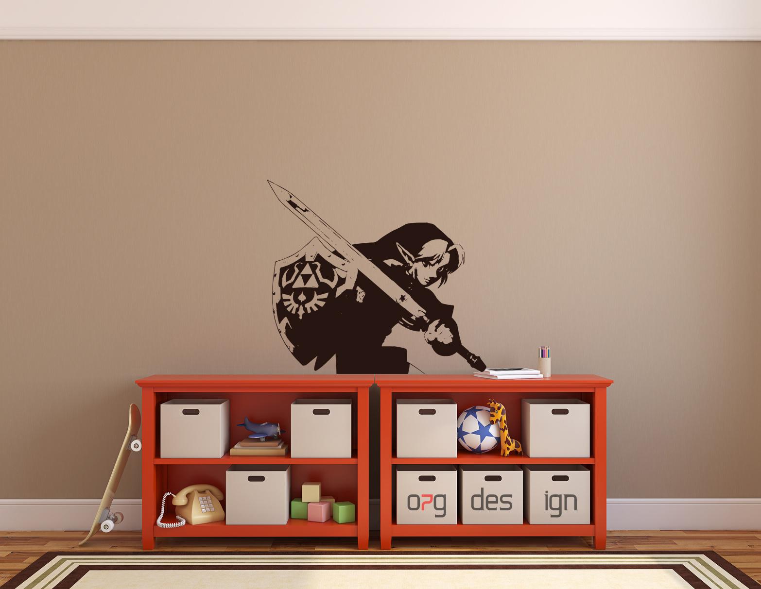 autoaufkleber sticker wandtattoo xxl spiele games zelda. Black Bedroom Furniture Sets. Home Design Ideas