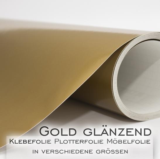 Klebefolie m belfolie dekofolie gold gl nzend in 126cm for Klebefolie abwaschbar